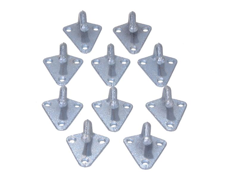 Dreilochplanenhaken Metall 10 Stück