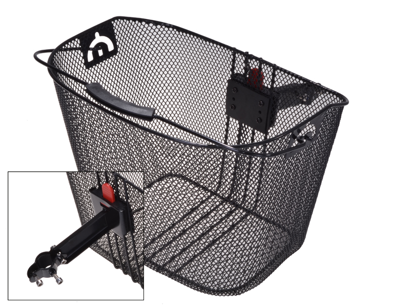 Lenkerkorb mit Adapter schwarz