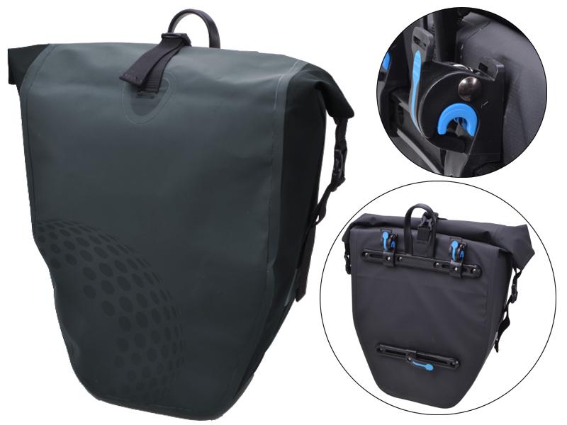Fahrradtasche Trekking grau für Gepäckträger