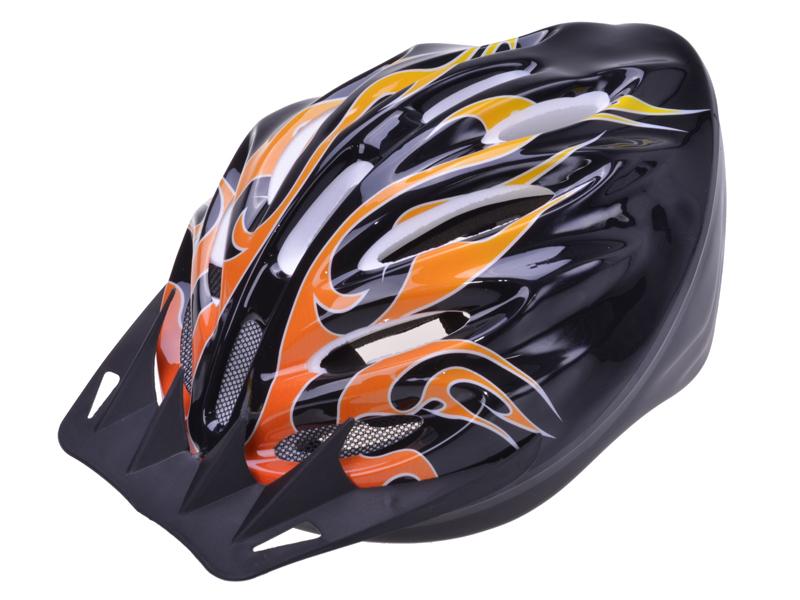 Helm für Radfahrer Flammendesign