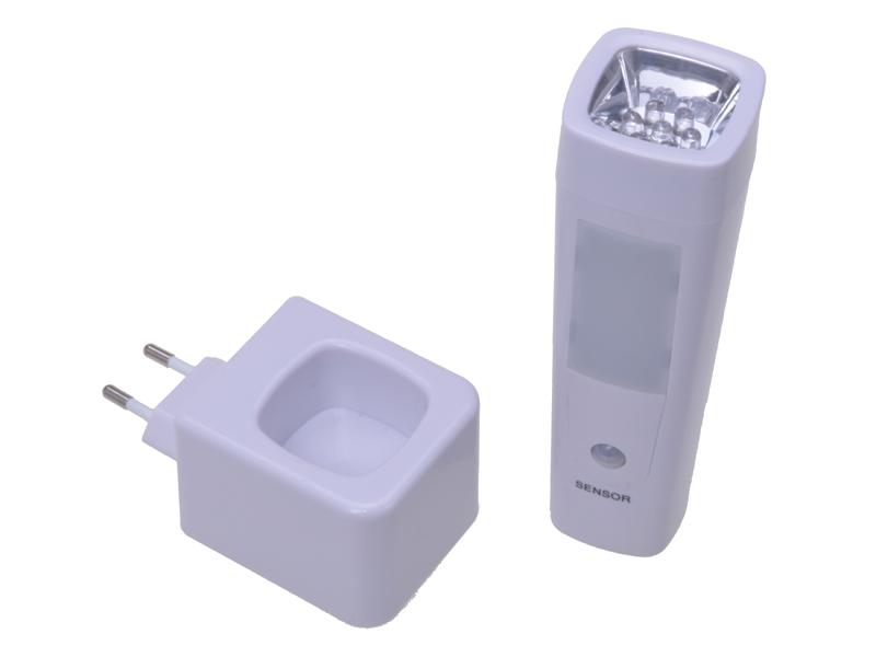 2in1 LED Nachtlicht mit Bewe  gungsmelder und Taschenlampe