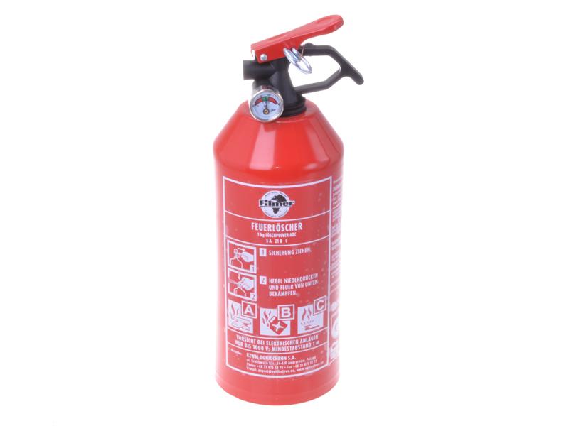 Feuerlöscher ABC 1 kg mit Halterung