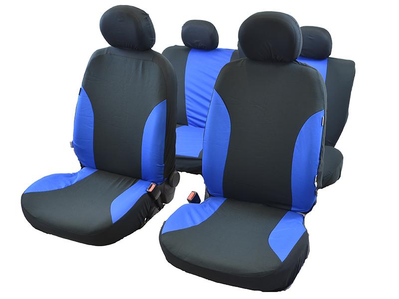 Autositzbezug-Set blau 11-tlg.