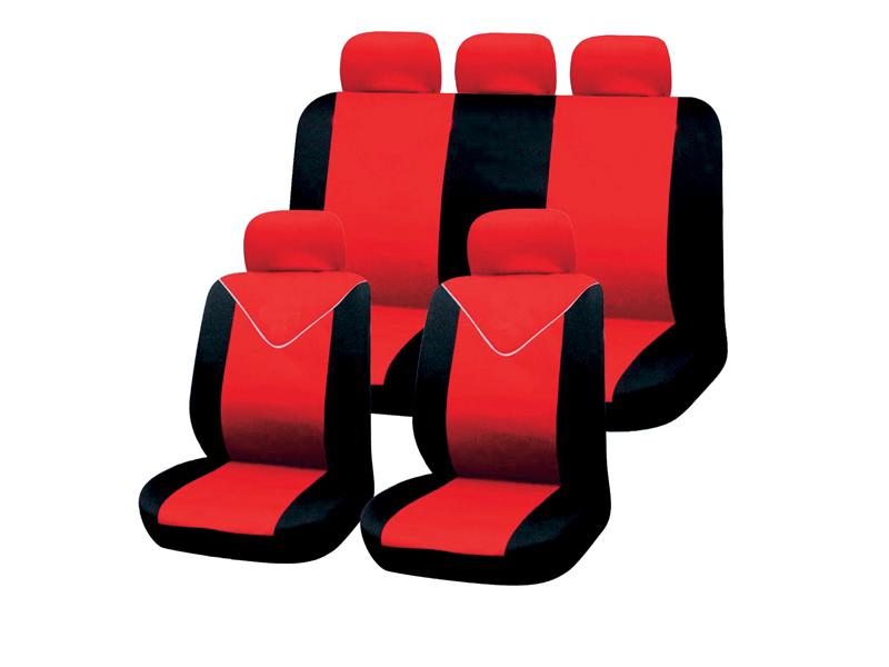 Autositzbezug-Set 11tlg. rot-schwarz