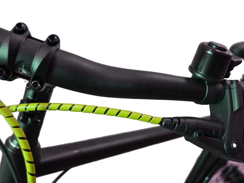 Fahrrad Spiralummantelung gelb