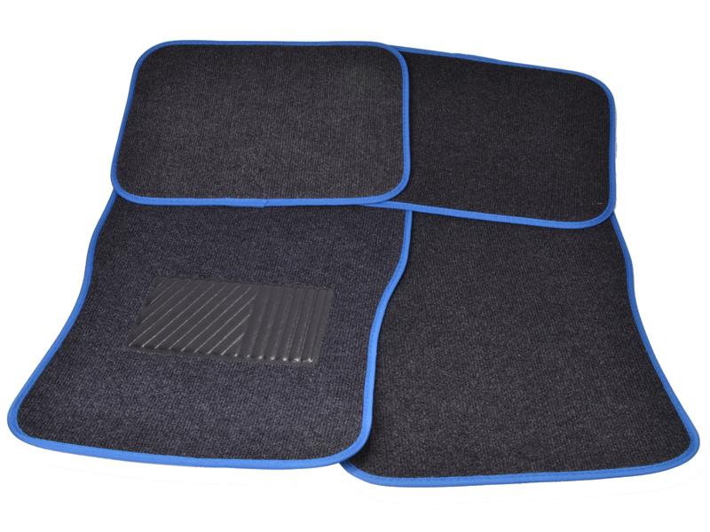 Autoteppich-Set 4tlg. blau