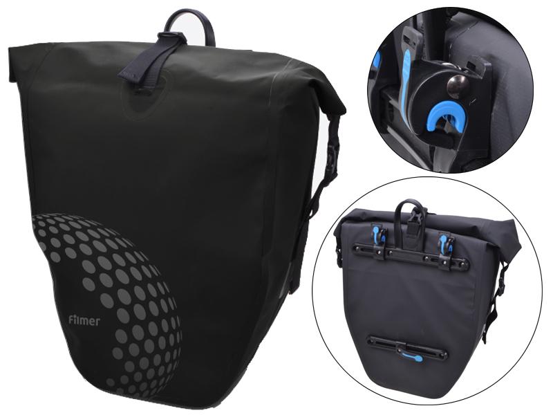 Fahrradtasche Trekking schwarz für Gepäckträger