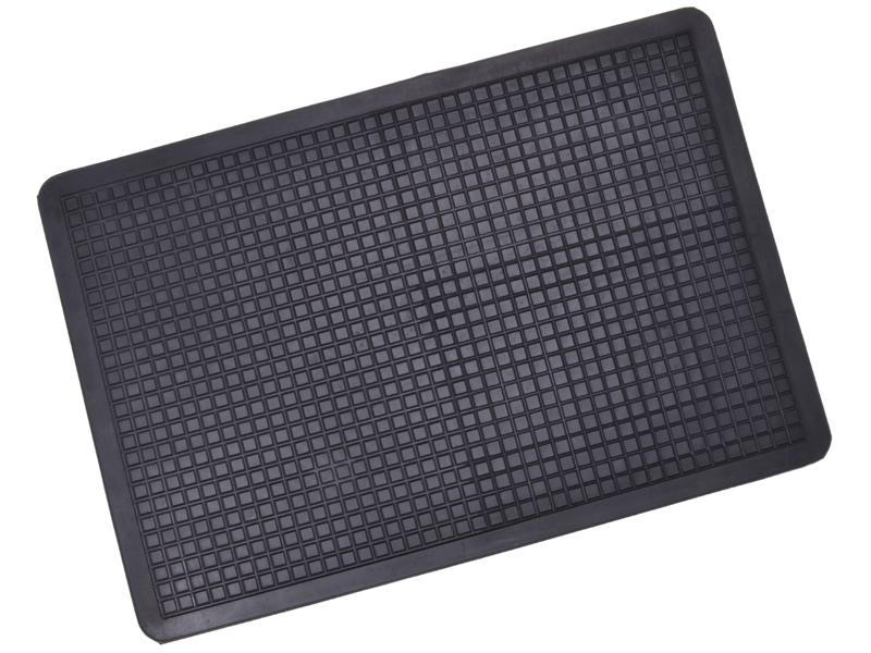 Fussmatte Wabenmuster 520 x 350 mm schwarz