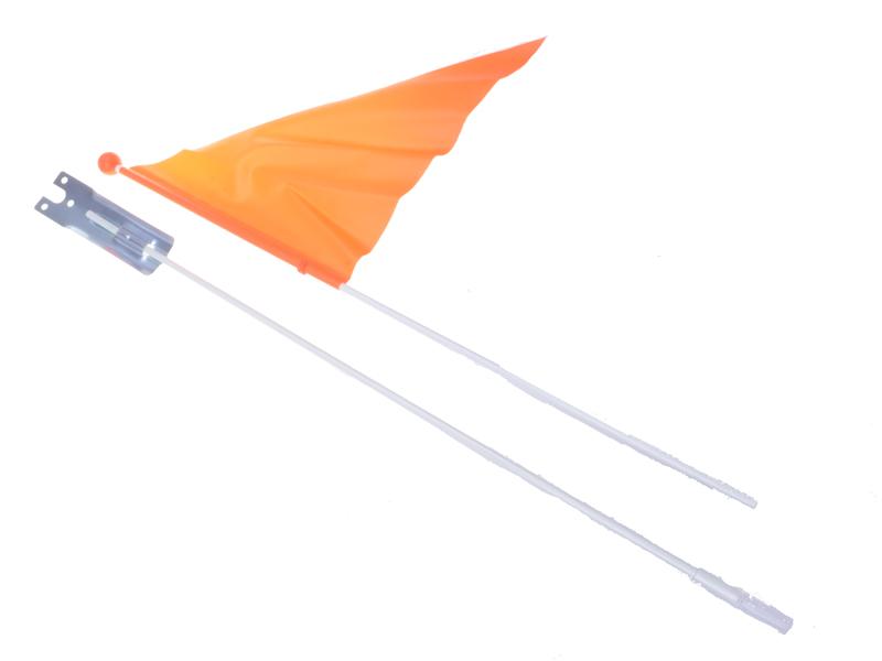Fahrrad-Fahne orange