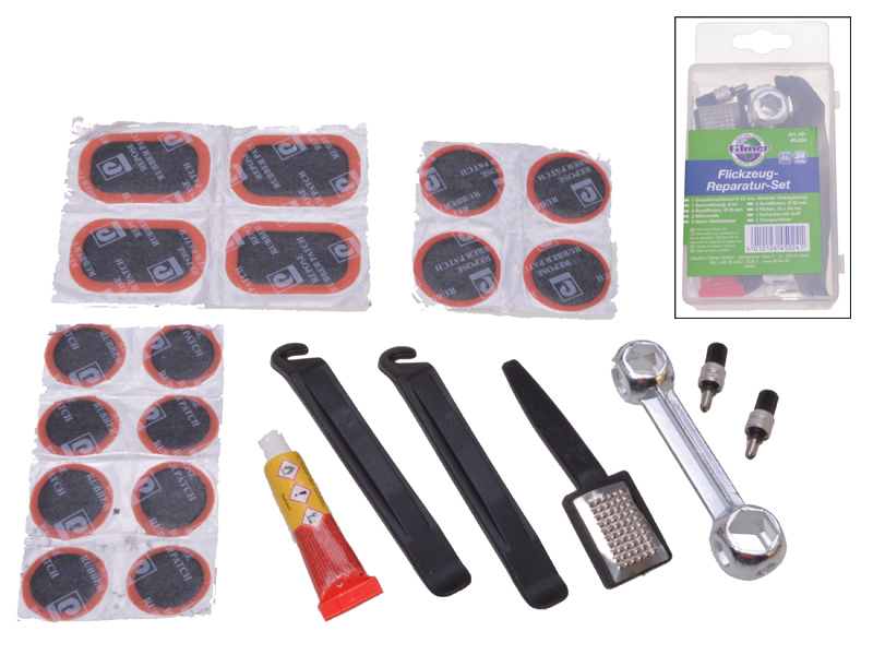 Fahrrad-Reparatur-Set, 24-tlg.