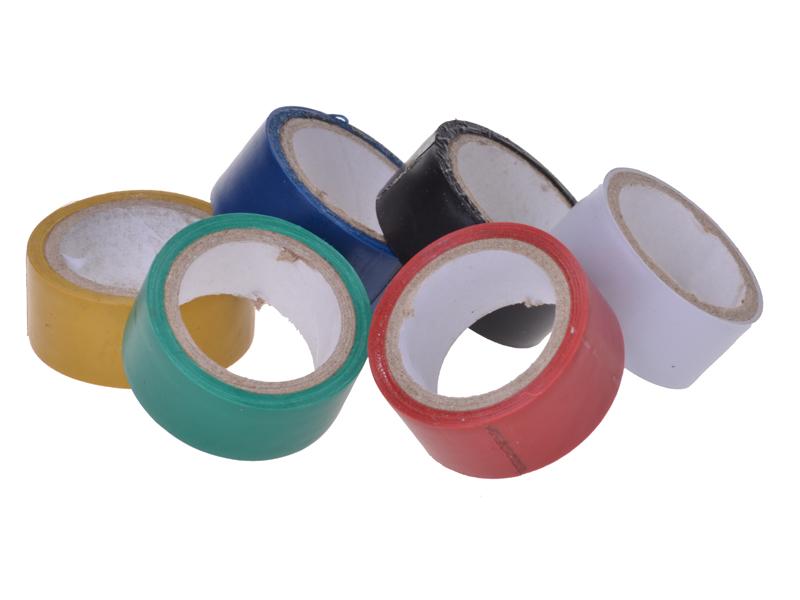 PVC-Klebeband farbig 6 Rollen à 3.5 Meter