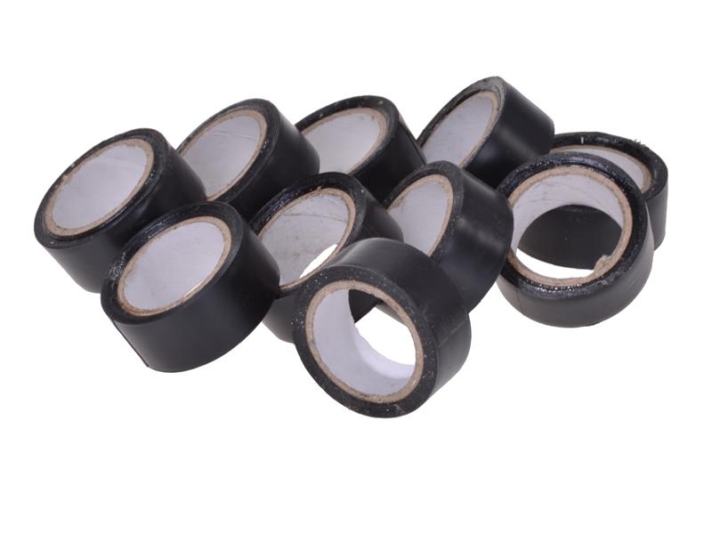 PVC-Klebeband schwarz 10 Rollen à 4,5m
