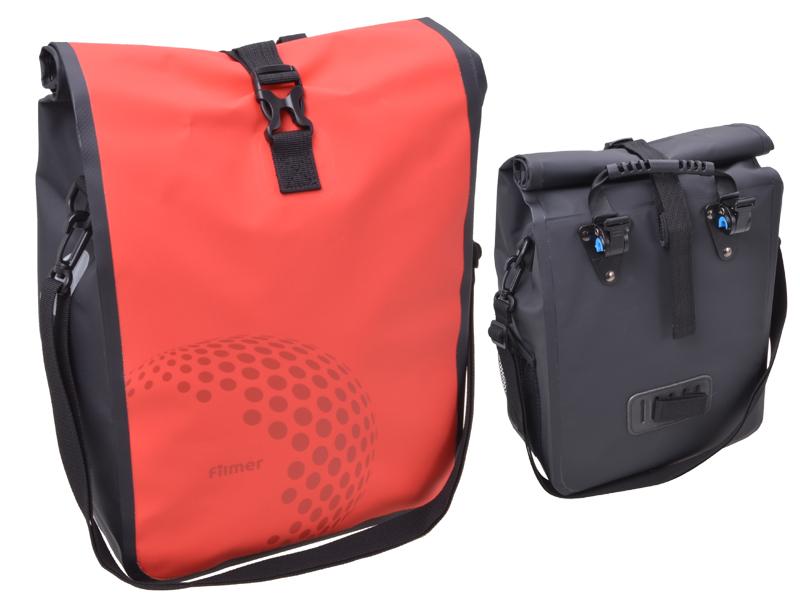 Fahrradtasche Premium rot für Gepäckträger