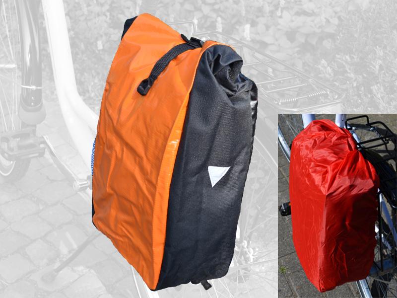 Fahrradtasche World Tramp orange/schwarz
