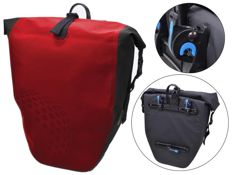 Fahrradtasche Trekking rot für Gepäckträger