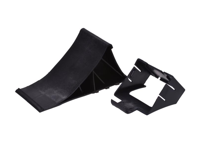 Bremskeil / Unterlegkeil mit  Halter für Anhänger