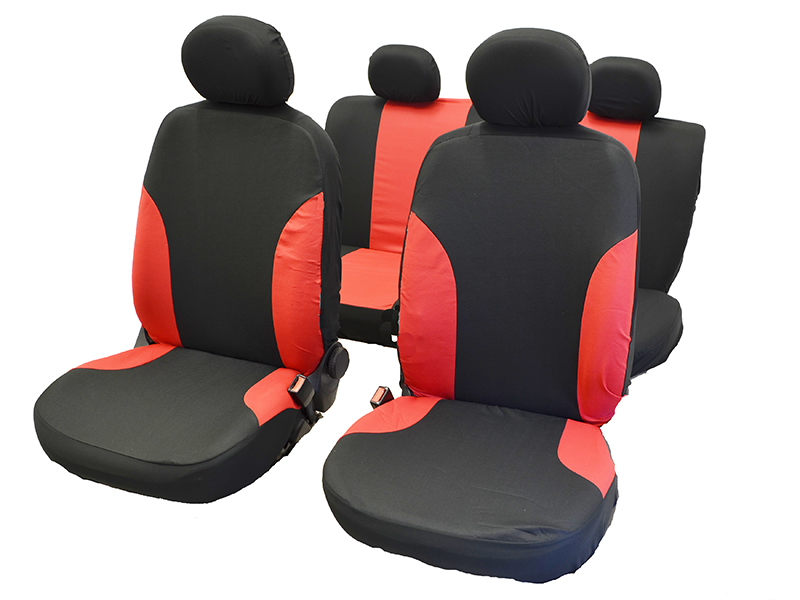 Autositzbezug-Set rot 11-tlg.