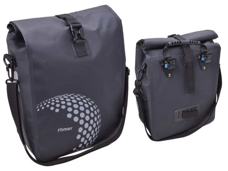 Fahrradtasche Premium schwarz für Gepäckträger